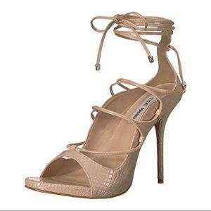 STEVE MADDEN ROXIE natural snake pump heels